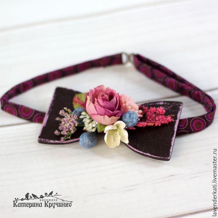 """Купить галстук-бабочка """"Шебби"""" - сиреневый, однотонный, галстук-бабочка, галстук бабочка, бабочка на шею"""