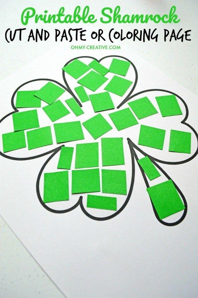 40 St Patrick S Shamrock Crafts For Kids St Patricks Day Crafts