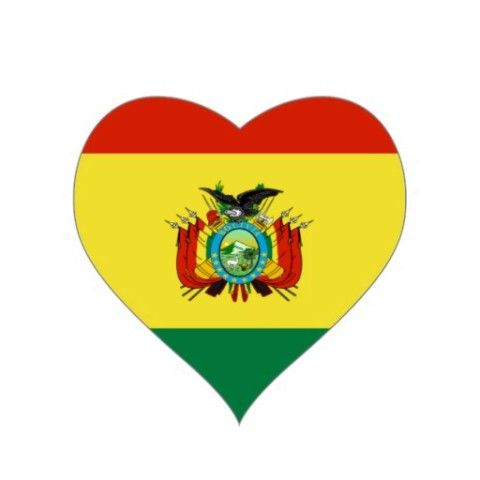 #Flag of #Bolivia #Heart #Stickers