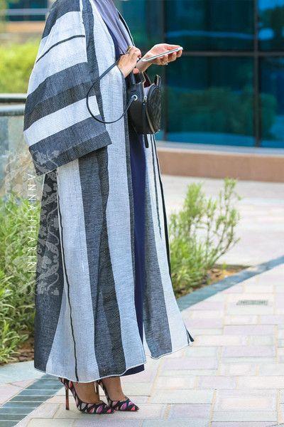 Hijab store www.annahariri.com Bisht (light abaya) Dubai style