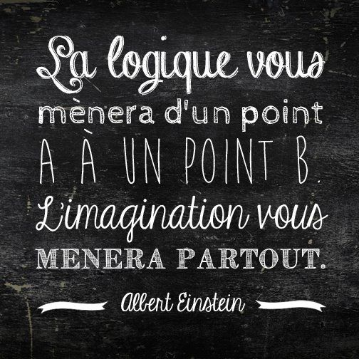 """The logic will take you to a point A to a point B. The imagination will take you everywhere."" Albert Einstein  A genius quote."