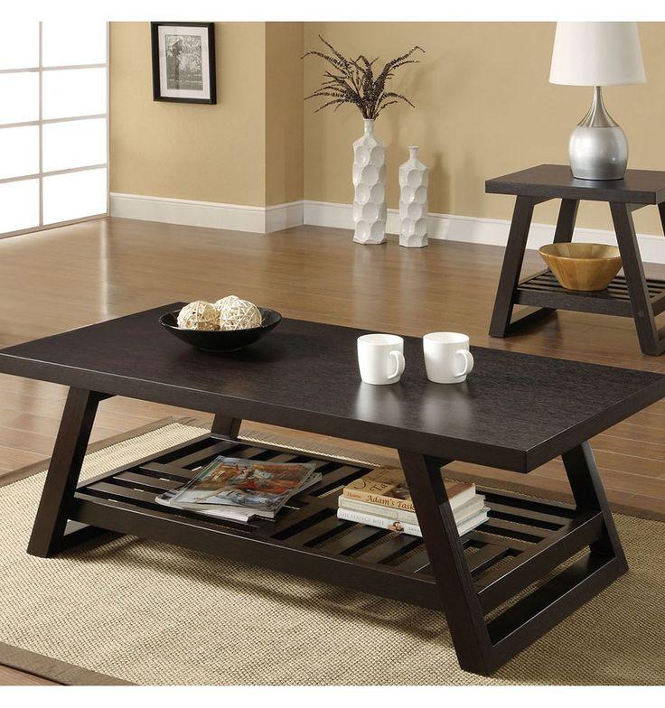 Set mesas de centro modernas para sala modelo ecuador de for Modelos de zapateras de madera modernas