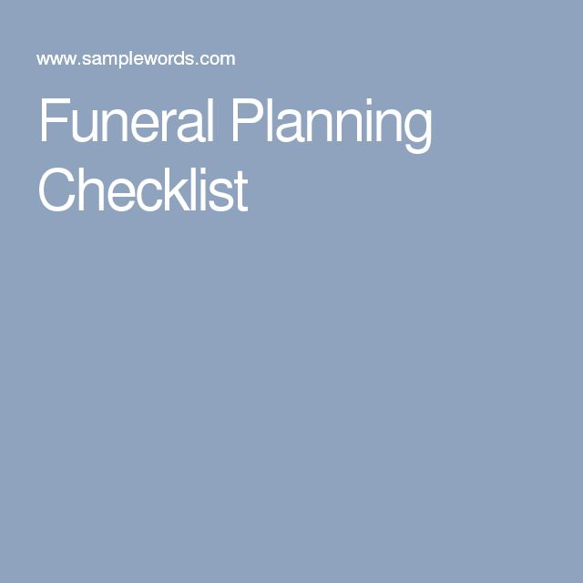 The 25+ best Funeral planning checklist ideas on Pinterest - funeral checklist template