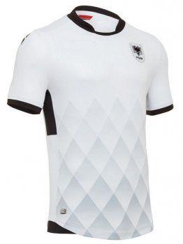 Albania National Team 2017-18 Away White Soccer Shirt Jersey [J729]