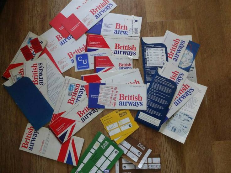 British Airways Tickets & Boarding Passes