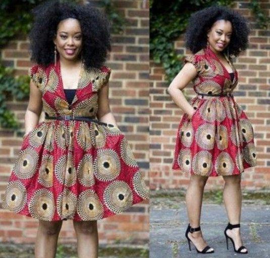 Nuju africaine robe courte longueur genou vêtements par HouseOfIzzi