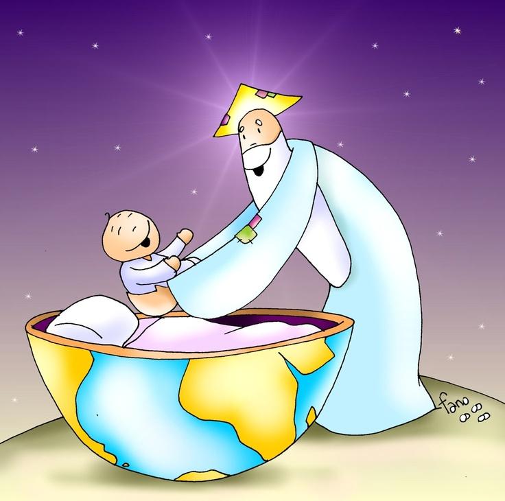 Dios deja a su Hijo en la tierra.