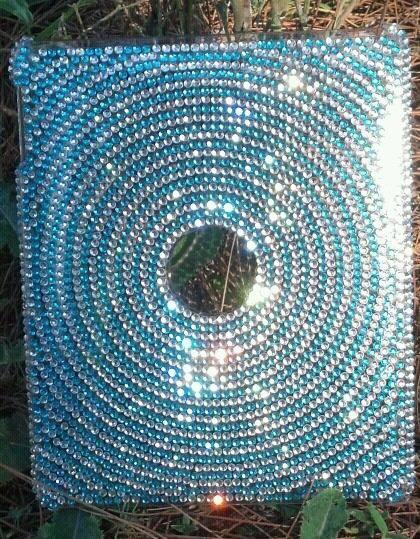 ipad 2 case in calming blue rhinestones