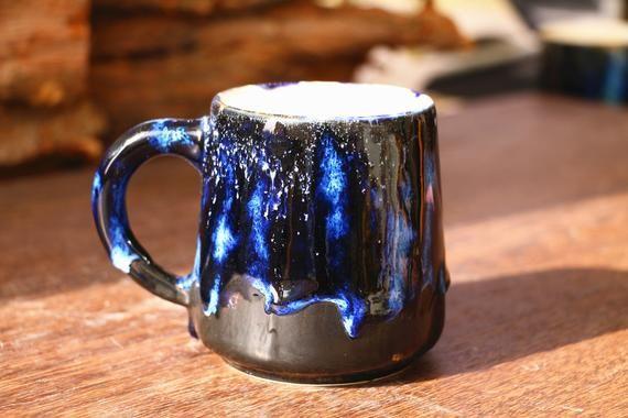 Handmade Artisan Coffee Mug Artistic Coffee Mug Ceramic Etsy Pottery Mugs Mugs Green Mugs
