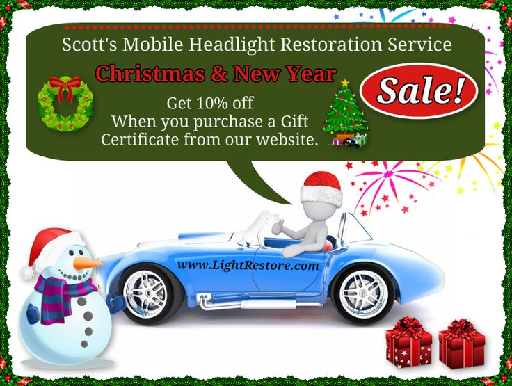 Holiday Special Get 10% OFF on our Lifetime Warranted Headlight Restoration Service in Citrus County, Levy County and Marion County,Ocala, Florida.