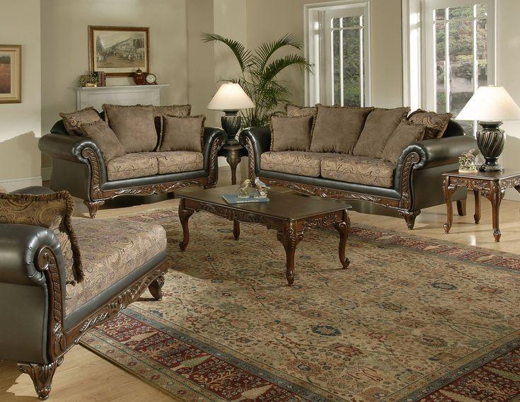 Ronalynn 2 Piece Sofa Set In San Mario Chocolate/ Silas Raisin Fabric By  Serta Upholstery