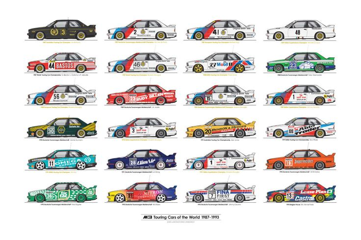Every BMW M3 Touring Car champion on one poster