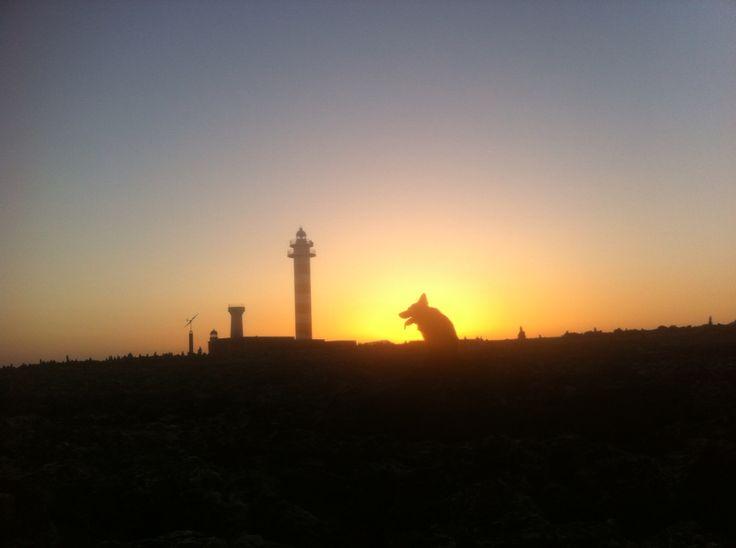 Grinch beim Leuchtturm in El Cotillo