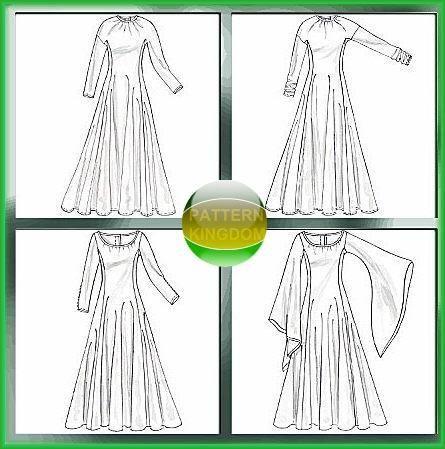 McCalls 4490 Renn/Medieval Fantasy Princess Dress Patterns