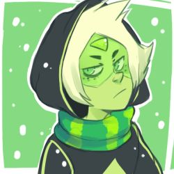 Peridot, Christmas, Steven universe || tumblr: Drunk rose district