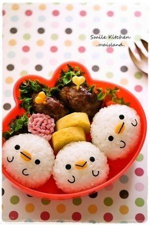キャラ弁*仲良しヒヨコおにぎり by Mai*Mai|簡単作り方/料理検索の楽天レシピ