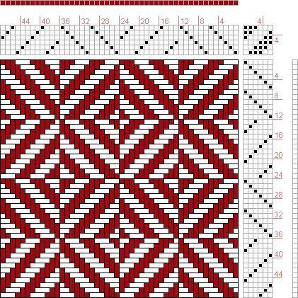 Hand Weaving Draft: Figure 15, Combination Weaves Serial 508, International Textbook Company, 6S, 6T - Handweaving.net Hand Weaving and Draf...