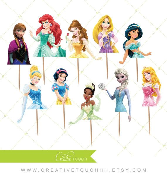 Princess Cupcake Toppers Cinderella Belle by CreativeTouchhh
