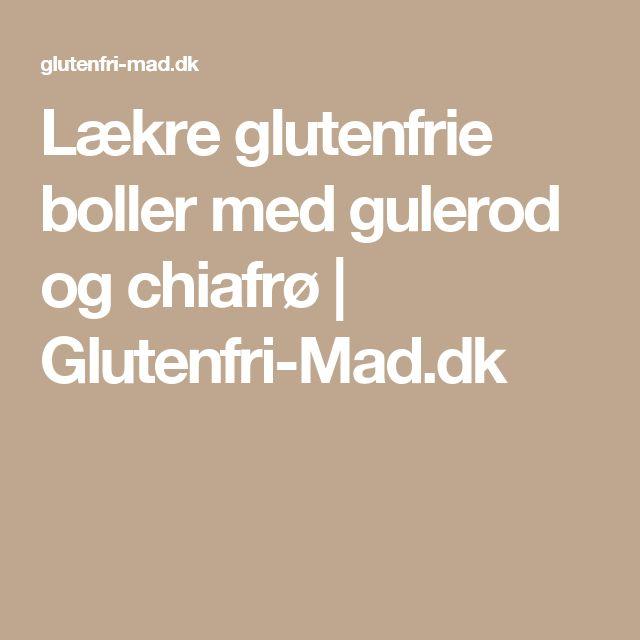 Lækre glutenfrie boller med gulerod og chiafrø | Glutenfri-Mad.dk