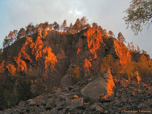Sunset at Korouoma canyon