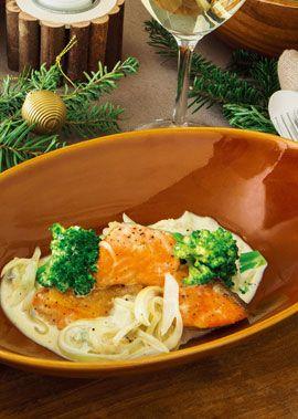 豊かな香りのゴルゴンゾーラが、コクのある鮭とベストマッチ。