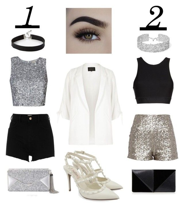 """""""1 or 2"""" by fashionstyleideas4now on Polyvore featuring Alala, River Island, BCBGMAXAZRIA, UN United Nude, Valentino, DANNIJO and Express"""