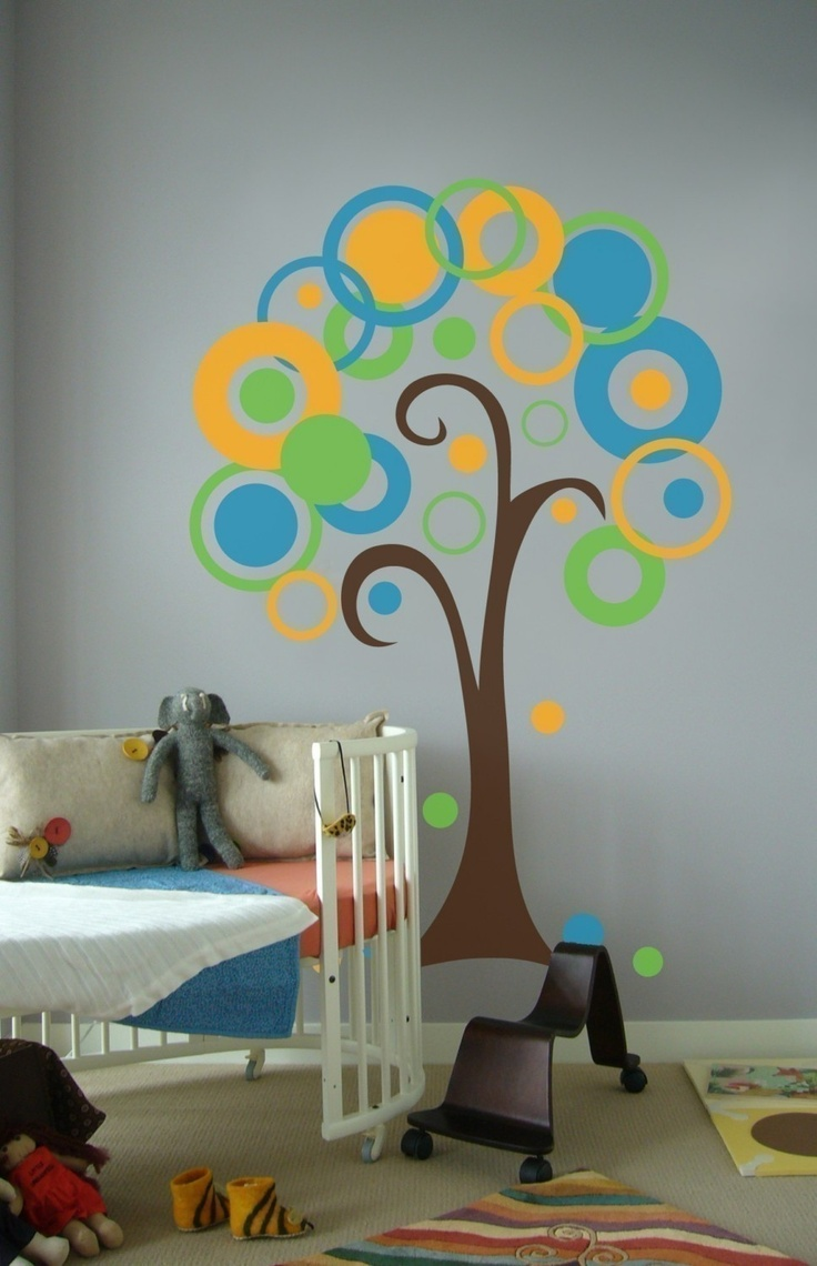 7 best baby room ideas images on pinterest purple trees baby circle polka dot tree vinyl wall art decal sticker via etsy