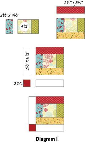 Scrappy Strips Quilt Block FREE pattern PDF download