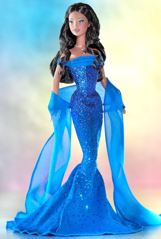 """1 Sep 2003 - """"September Sapphire""""™ Barbie® ~ Collector Edition 