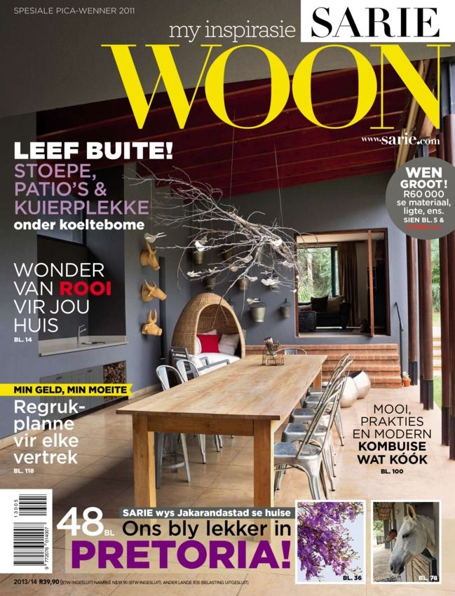SARIE Woon Afrikaans Magazine - Buy, Subscribe, Download and Read SARIE Woon on your iPad, iPhone, iPod Touch, Android and on the web only through Magzter