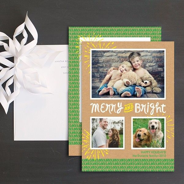 Bright Bursts Holiday Photo Cards by Ringleader Paper Co. | Elli