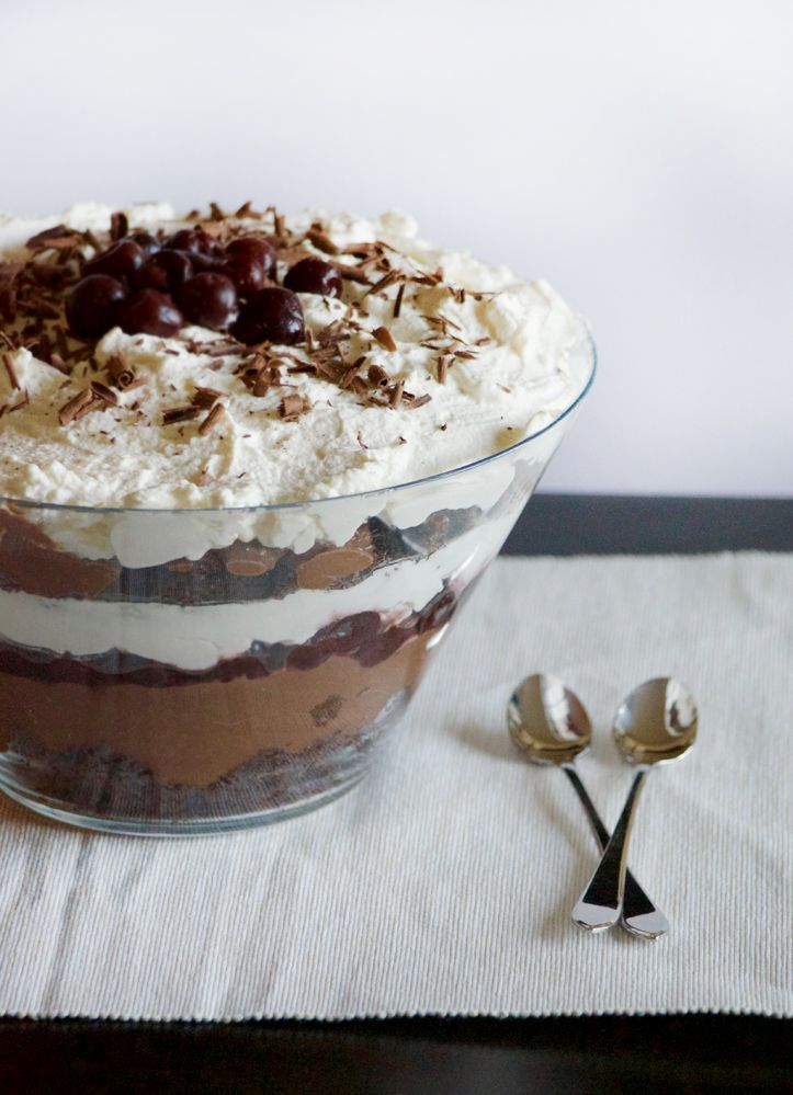 Black Forest Trifle with Brandy | Obsessive Cooking Disorder