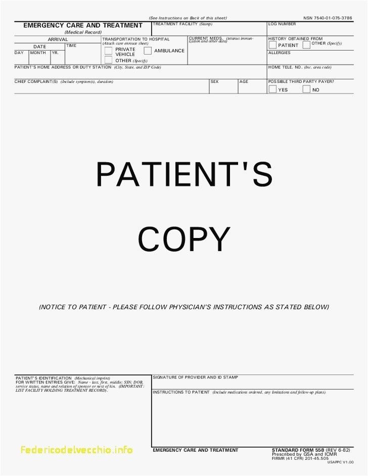 22 Emergency Room Discharge Papers Template General Hospital