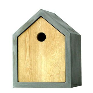 designer Torsten Klocke made the Rohbau birdhouse, which protects its inhabitants against wind, weather, and enemies.