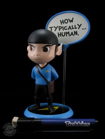 Star Trek cuteness! Trekkies Spock Q-Pop PVC  Figure - you can write a quote on the word bubble!