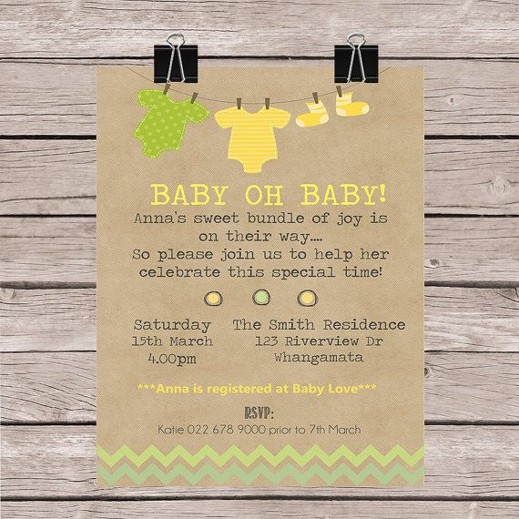 Baby Shower  Personalized for you to print by FaithandWhimsy, $15.00