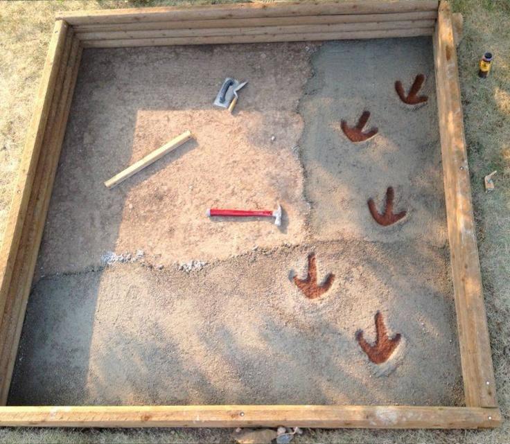 Dad hides dinosaur 'fossils' in kids' sandbox