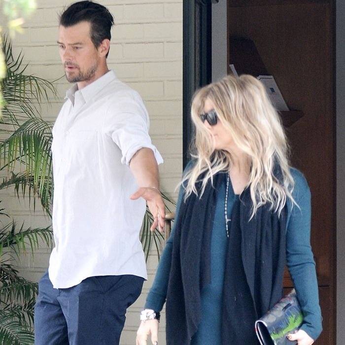 Fergie and Josh Duhamel leaving the church after going to an early Sunday mass in Brentwod on June 9, 2013