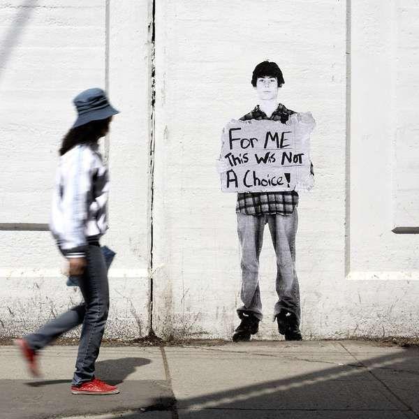 Activist Street Art - Fauxreel's 'The Unaddressed' Addresses Homelessness in Toronto