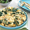 Kale, Potato and Onion Frittata - Toss in the Red Peppers too! I love making a frittata as it's great leftover for lunch or breakfast.
