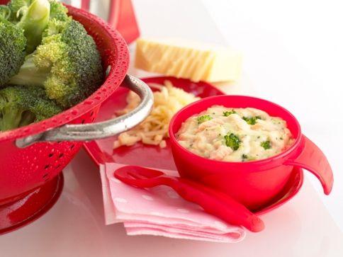 Weaning Recipe - Salmon, Broccoli & Cheese Sauce