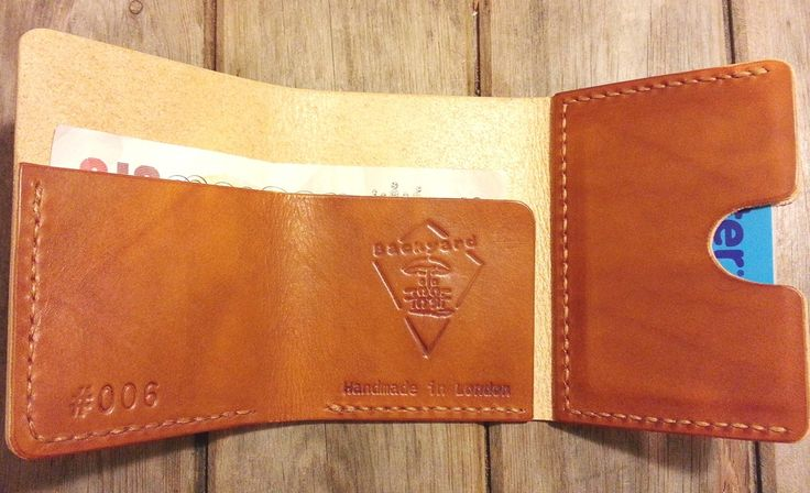 HAND-STITCHED LEATHER WALLET - TAN - Backyard Denim