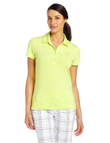 Puma Golf NA Womens Barcode Polo Shirt Sunny Lime Medium ** You can find out more details at the link of the image. Note:It is Affiliate Link to Amazon.