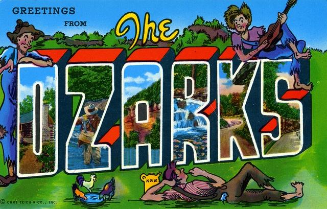 The Ozarks - Vintage Postcard