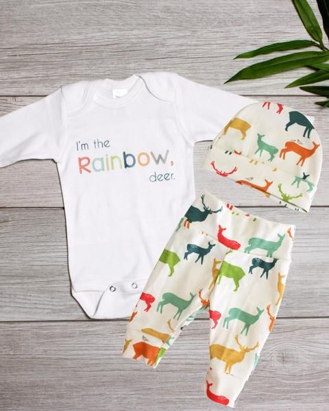 13ae315be5e7 Rainbow baby boy coming home outfit