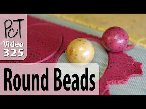 Making Round Polymer Clay Beads That Are Actually Round - YouTube