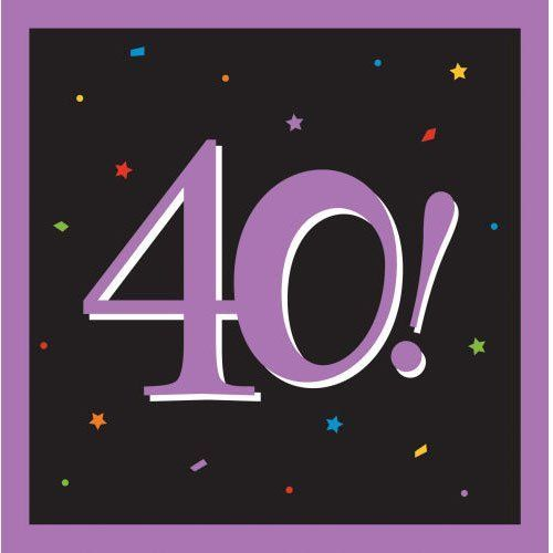 40 Milestones Luncheon Napkins (16 per package) by Creative Converting. $5.03. 16 per package.
