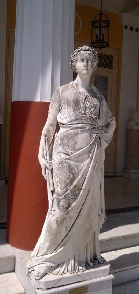 Euterpe, the Muse of Music  in Achílleion, Kerkira (Corfu).