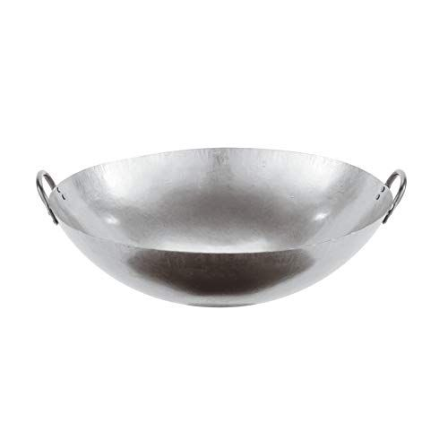 Paderno World Cuisine 24Inch Dual Handled Steel Chinese