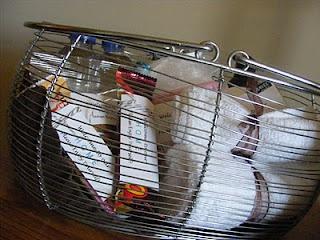 Overnight guest basket of needs/goodies